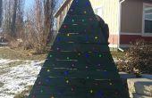 Sapin de Noël de la palette avec LEDs