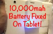 10 000 mah batterie PowerBank fixé sur tablette Android !