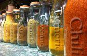 Réaffectés en pots de verre dépoli Spice...