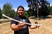Faire un Atlatl survie et Dart avec seulement trouvé des matériaux et des outils en pierre