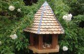 Table hexagonale oiseau de bois recyclé