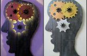 L'esprit Gear éclairé fixation murale