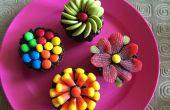 Petits gâteaux au chocolat coloré