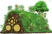 Jamais l'eau des plantes avec Hugelkulture !