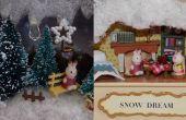 Maison de poupée Miniature bricolage dans une boîte en fer blanc