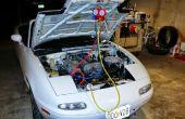 Aventures en climatisation Auto.   Ou rénover une Miata NA et rechargez-le.