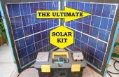Économiseur d'énergie sauvegarde tout en un seul kit alimenté par un panneau solaire pliant de mobile