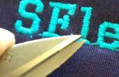 CNC broderie impression SF et SFlettering avec uniquement le Menu
