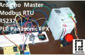 Arduino Modbus maître RTU et Panasonic PLC FPX C14R