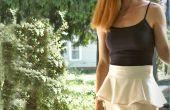 Amovible Peplum jupe deux manières