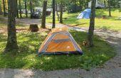 Planter une tente sans bâtons