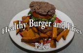Paleo hamburgers et des frites