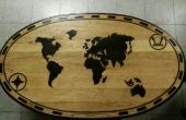 Monde carte table