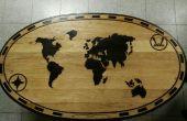 Monde carte table