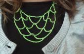 Faire un collier de niveau vert perlé