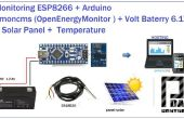ESP8266 + chargeur solaire Arduino à Emoncms
