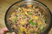 Mangue et salade de Quinoa haricot noir
