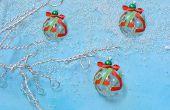 Comment faire simple arbre de Noël ornement avec rubans et perles en Murano Verre