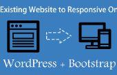Convertir un site Web existant en réactif WordPress utilisant le Bootstrap