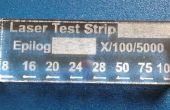Suivre la puissance de coupe de votre graveur laser avec les bandelettes de test