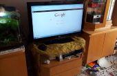 Ordinateur de PC-TV caché dans un tiroir de votre télévision