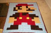 8-bit Mario Blanket - fabriqués à partir de carrés Granny