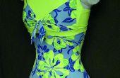 Bow & Ruffles maillot de bain conçu dans Carnet de croquis à l'aide de photos de mon tissu