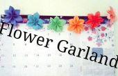 Guirlande de fleurs origami