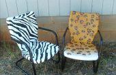 Chaises de patio vaporisées