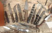 Tous de mon actuel de couteaux fabriqués à la main