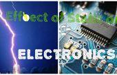 Effet d'électricité statique sur les pièces électroniques