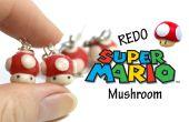 #Redo tag argile polymère - boucles d'oreilles Super Mario Mushroom -