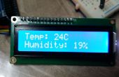 Arduino temperature/HUMIDITE capteur DHT11 et I2C LCD un jour projet