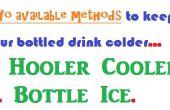 Garder les boissons froides - deux méthodes disponibles