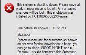Programmer votre PC pour éteindre automatiquement par asigning ce temps vous voulez qu'il fasse que