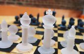 Modèles de pièce d'échecs imprimés 3D