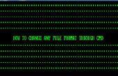 Comment faire pour changer le Format de fichier par le biais de CMD
