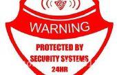 Rendant le système d'alarme alerte pour chambre
