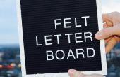 Felt Letter Board