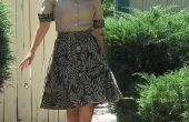 Upcycle une jupe 90 ' s en tenue de 50 ' s