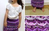 Picot Shell jupe - Crochet patron gratuit