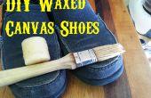 BRICOLAGE ciré des chaussures en toile