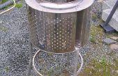 Incinérateur de jardin en acier inoxydable - chauffe-Patio de recyclés.