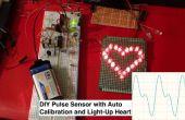 BRICOLAGE coeur capteur avec seuil automatique-ajusté et voyant de fonctionnement de LED en forme de coeur