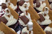 Cupcakes de crème double se mores