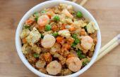 Crevettes frites Quinoa