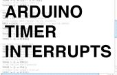 Arduino minuteur interrompt
