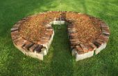 Keyhole jardin utilisant récupéré des matériaux