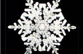 Six faces papier flocons de neige