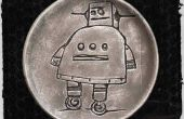 Gravure de vinaigre (le robot instructables en argile)